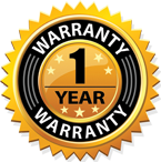 One Year Warranty on all products